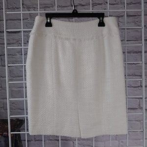 Etcetera Skirts - Etcetera Cream Fully LIned Tweed Mini-skirt